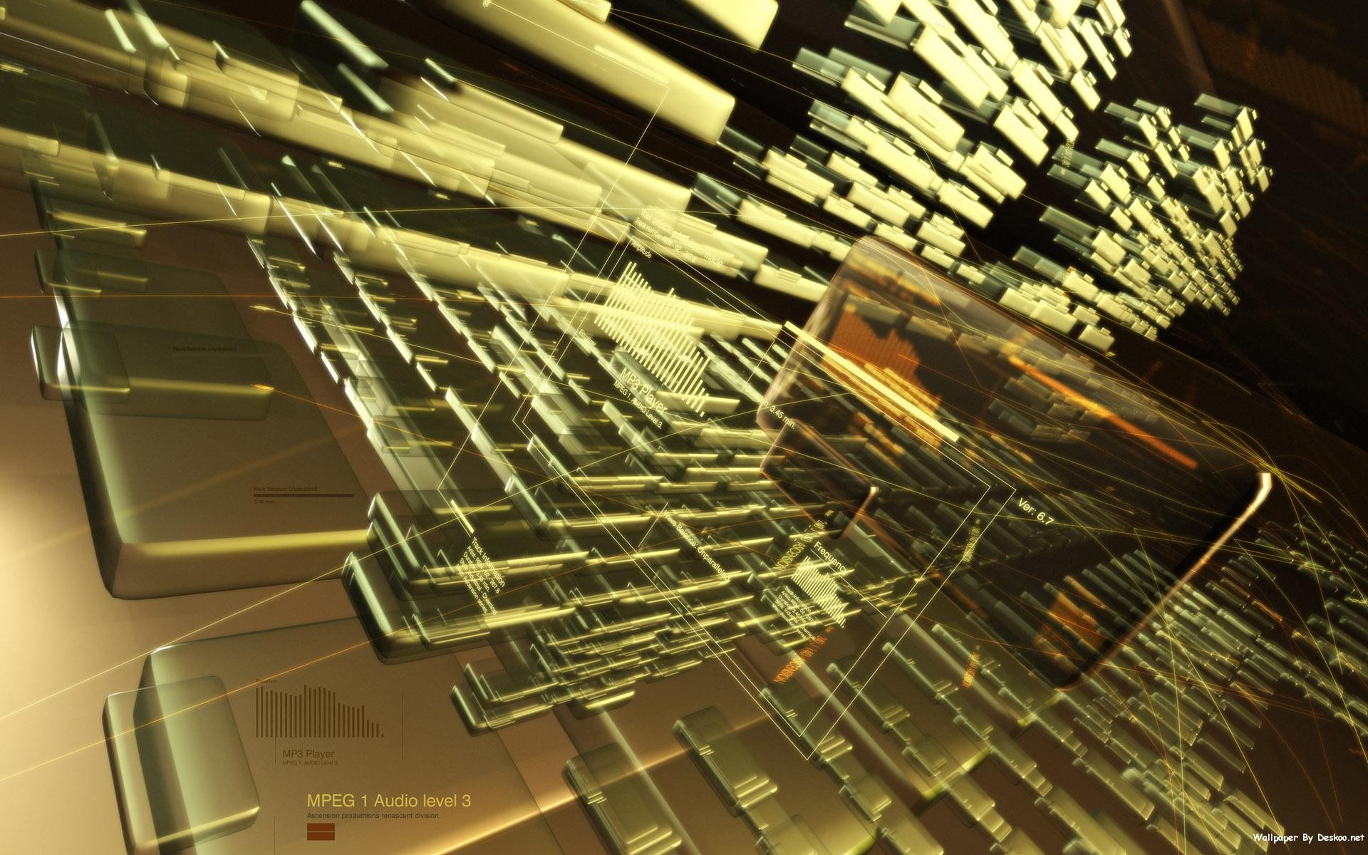 3D Abstract Arhitecture Wide