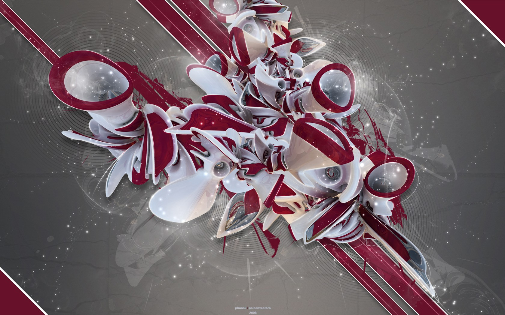 3D Abstract Creative Design Wide
