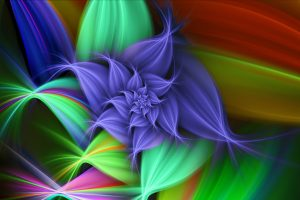 3D Abstract Flower Wide