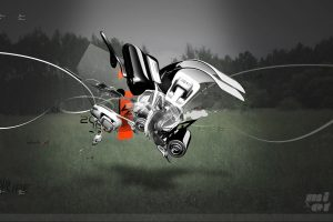 3D Abstract Robot Wide