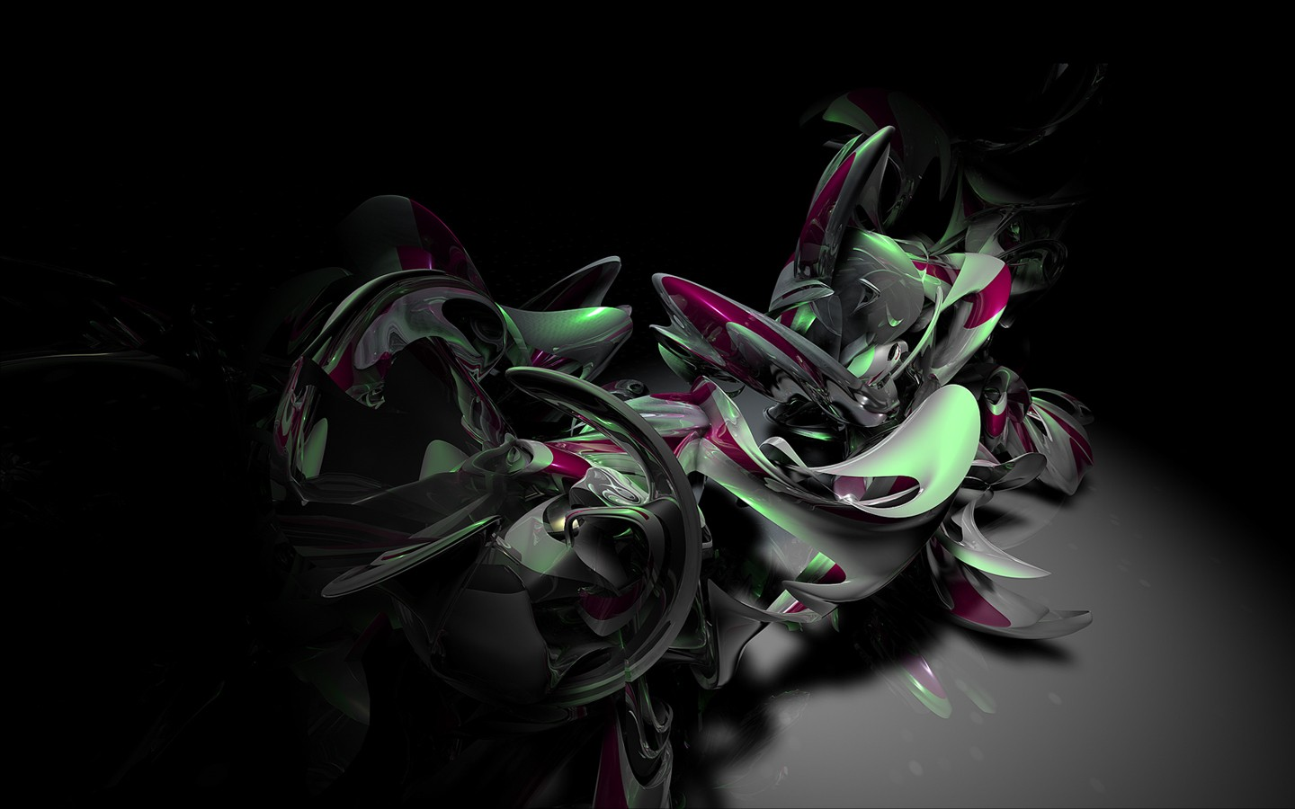 3D Abstract Strange Figure Wide