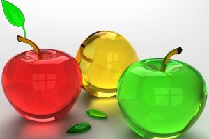 3D Apples Made Of Glass