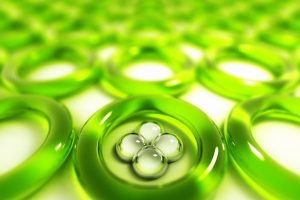 3D Art – Green Glass Rings Smooth 3D