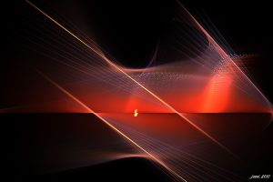 3D Beautiful Abstract Red Wide
