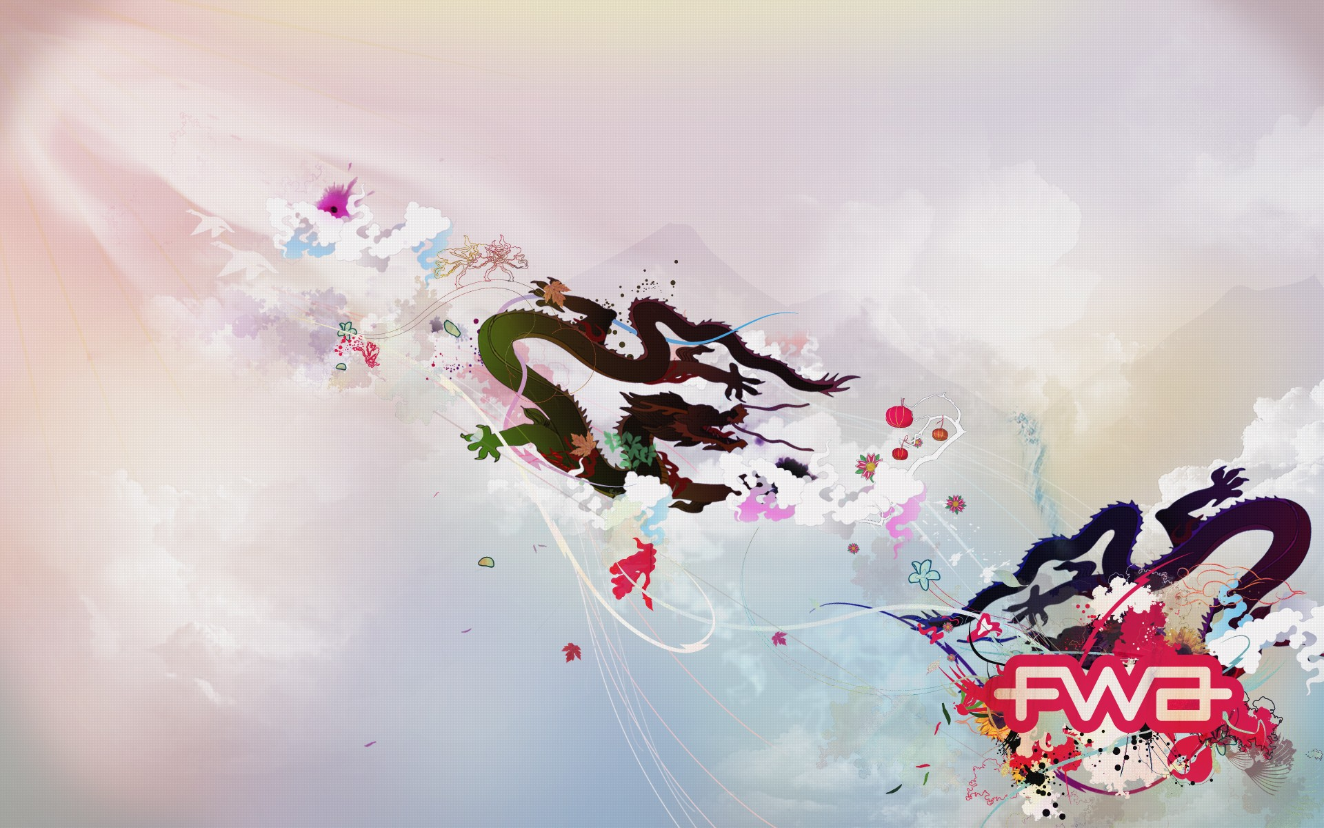 3D Chinese Dragon Fwa Wide
