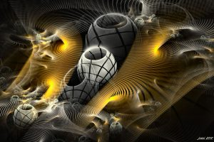 3D Creative Yellow And Gray Wide