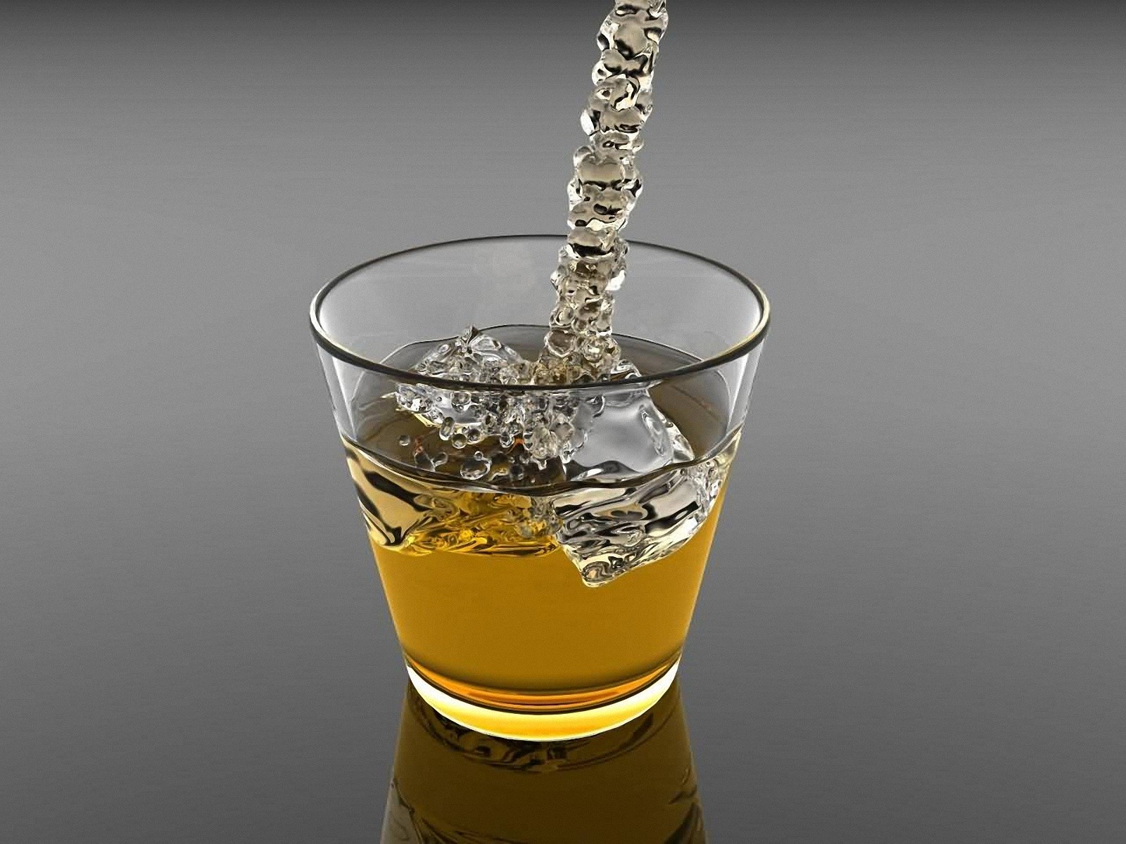 3D Glass Cold Drink