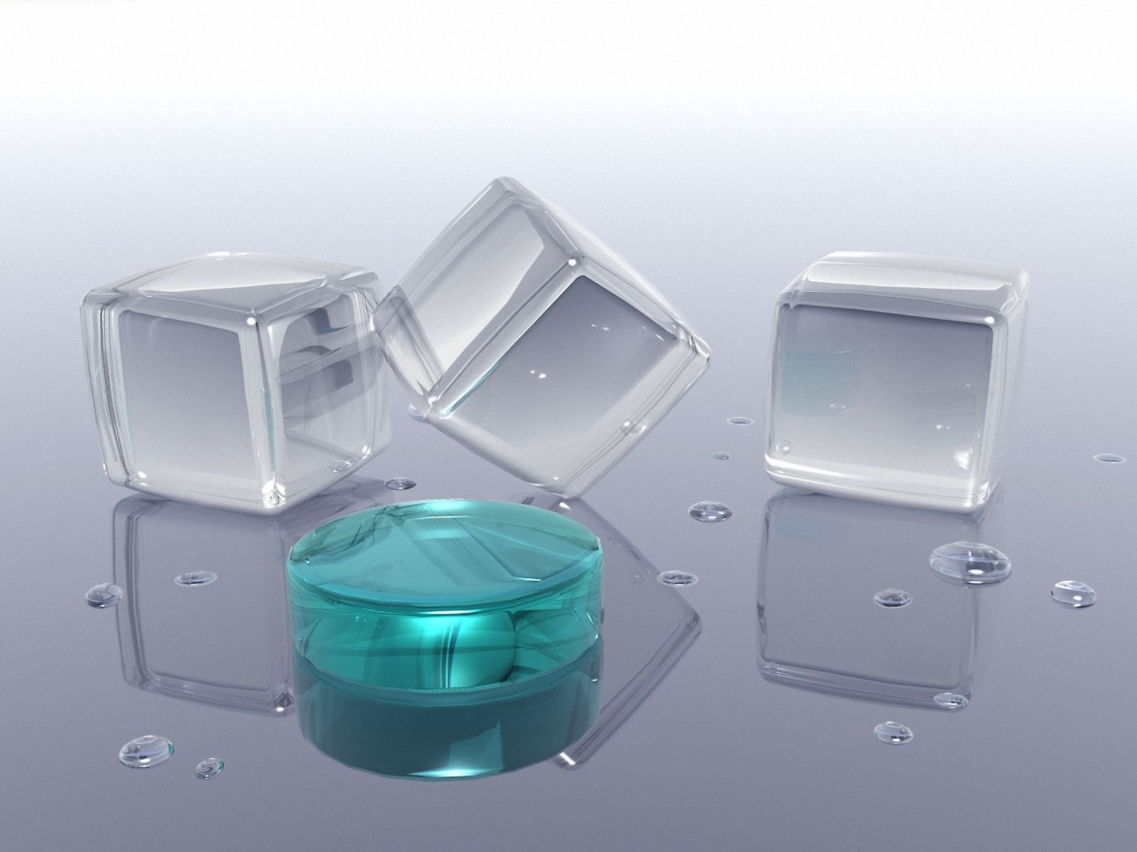 3D Glass Cubes