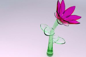 3D Glass Flower