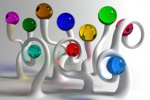 3D Glass Trees Or Marbles