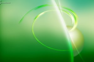 3D Green Abstract Backgound Wide