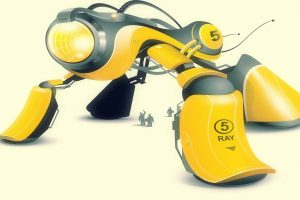 3D Yellow Robot
