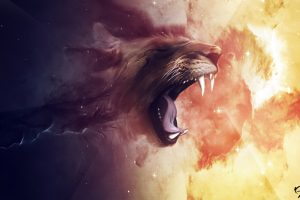 Abstract Lion Wide