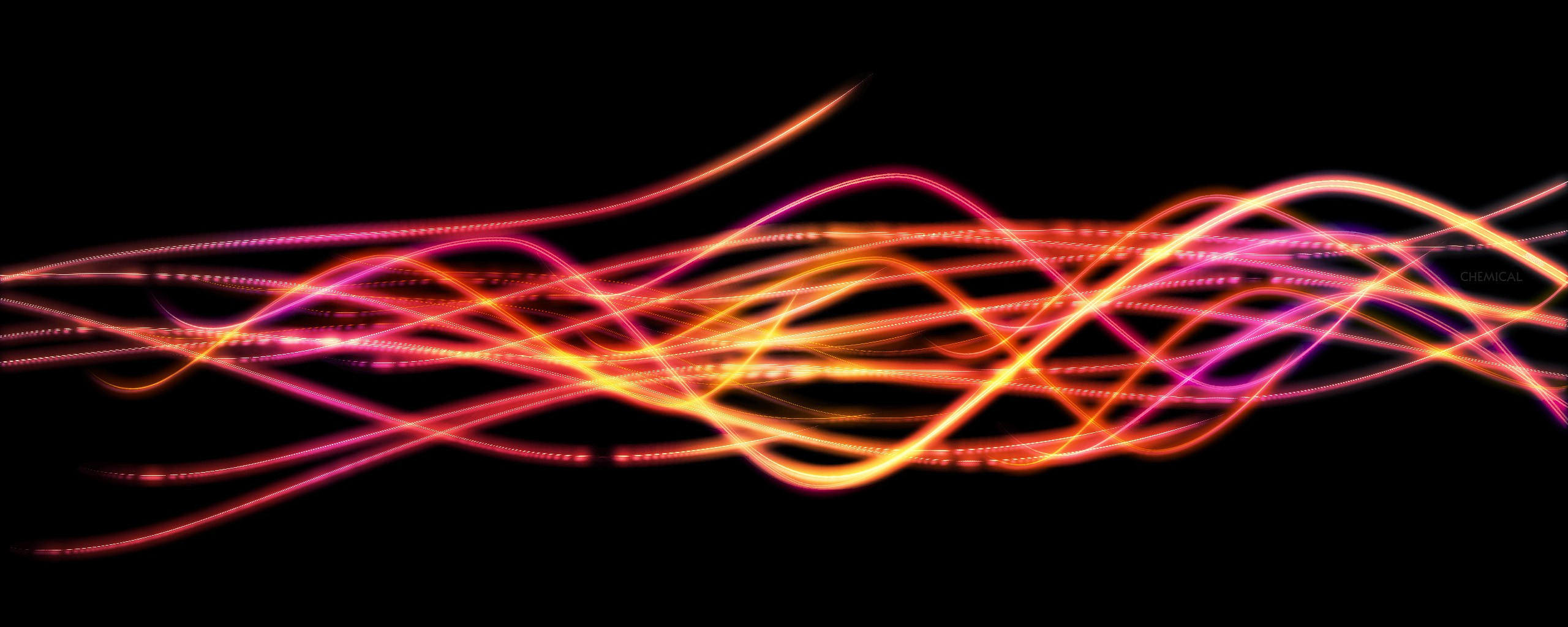 Abstract Yellow Pink Lines Other