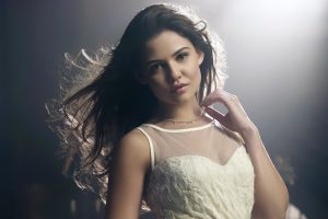 Actress Danielle Campbell Wide