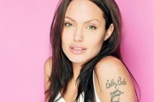 Angelina Jolie And Left Arm Tattoo
