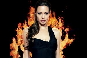 Angelina Jolie Backed by Flames