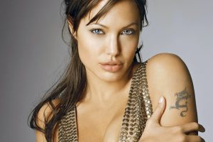 Angelina Jolie Dragon Tattoo