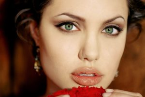 Angelina Jolie Eyes And Mouth