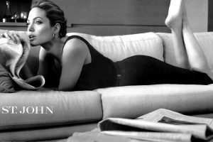 Angelina Jolie On The Bed Wide