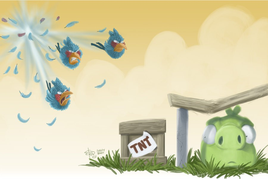 Angry Birds Attacking Other