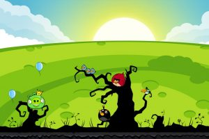 Angry Birds On Field