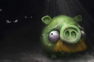 Angry Birds Pig Painting