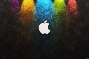 Apple Colorful Logo Wide