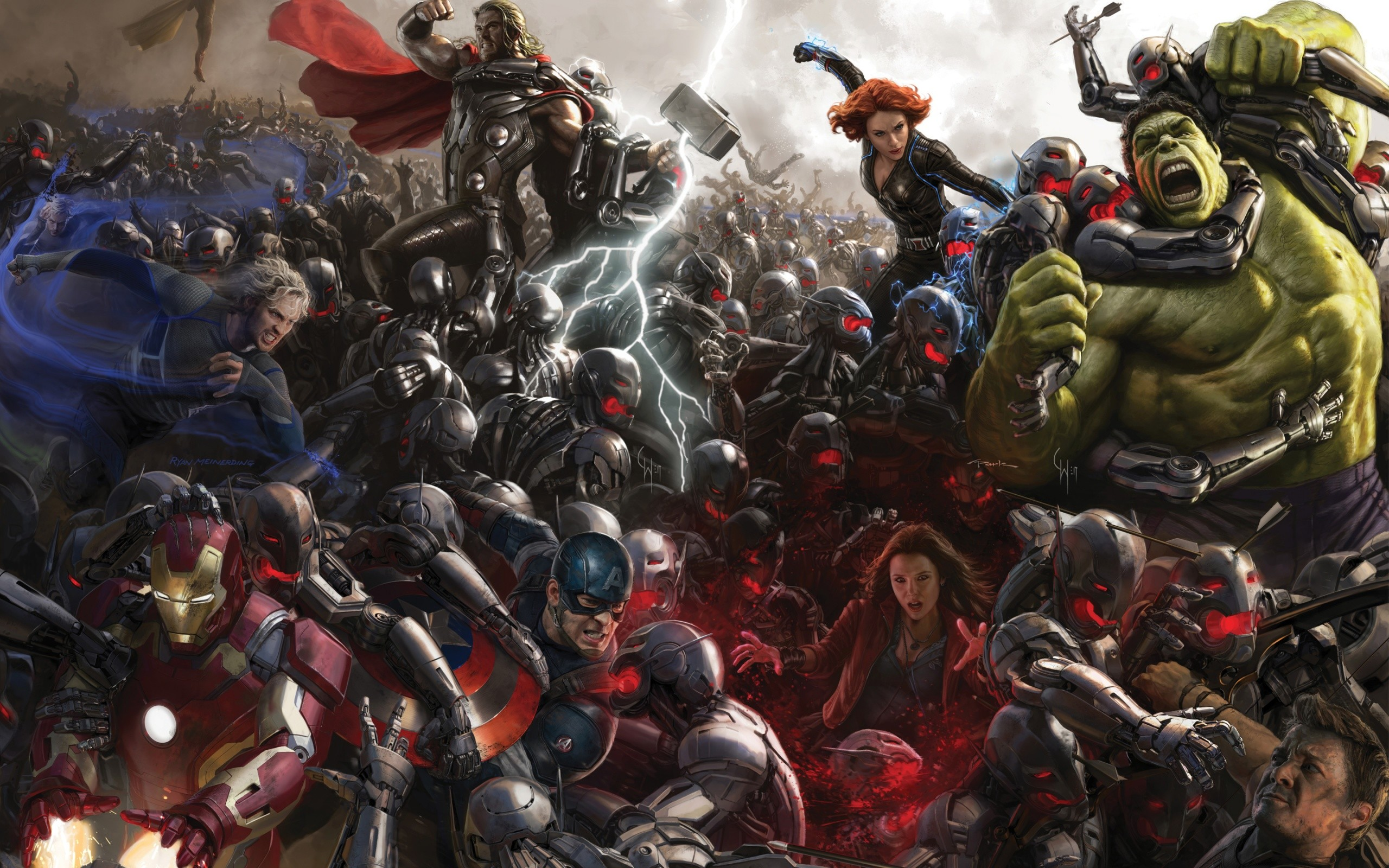 Avengers Age Of Ultron Concept Art Wide