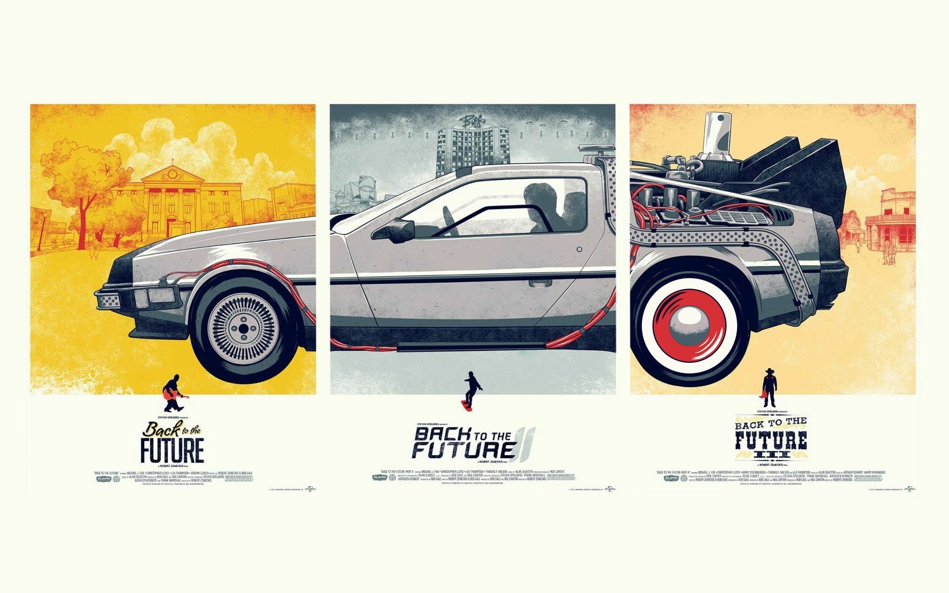 Back To The Future Cars Wide