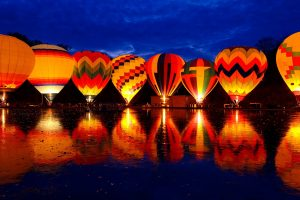 Balluminaria Hot Air Balloon Glow Festival Wide