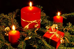Beautiful Christmas Candles Wide