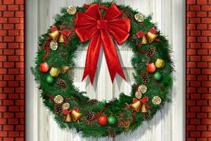 Beautiful Christmas Wreath Wide