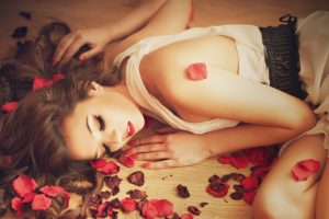 Beauty And Flower Petals