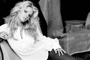 Black And White Hot Jessica Simpson Wide