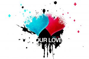 Blue And Red Heart