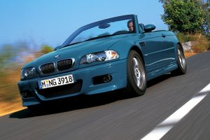Bmw Blue M3 On The Road