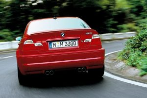 Bmw M3 Red On Road
