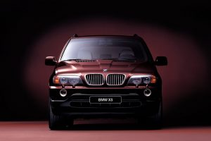 Bmw Red X5 Front View