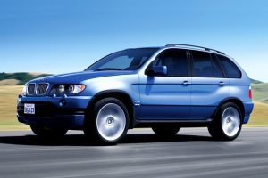 Bmw X5 Blue On The Road