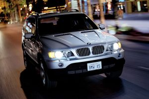 Bmw X5 Front View At Night