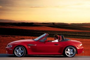 Bmw Z3 M Red Side View On Road