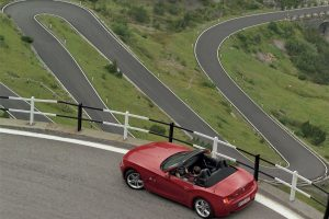 Bmw Z4 On The Road