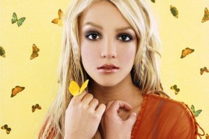 Britney Spears Yellowed Background