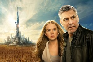 Britt Robertson George Clooney Tomorrowland Wide