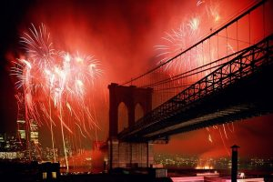 Brooklyn Bridge At New Year