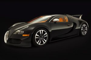 Bugatti Veyron Sang Noir Front Right Angle Wide