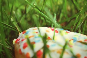 Cake In Grass Wide