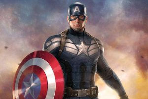 Captain America Artwork Wide