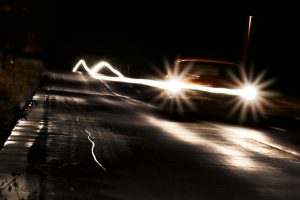 Car On Road At Night Wide